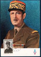 FRCM   1971 Anniversaire Du Décès Du Général De Gaulle Le 9/11/70  - N°YT 1695 Oblit. Lille  9/11/71 - 1970-79