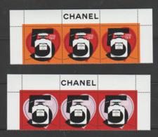 FRANCE / 2021 / Y&T N° 5464/5465 ? ** : Chanel N°5 (2 TP Gommés De Feuille) X 3 Paires = Hauts Des Feuillets - Neufs