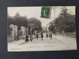Segré - La Rue De La Gare / Edition Artaud Et Nozais - Segre