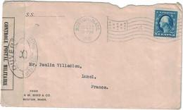 Etats-Unis - Massachusetts - Boston - Censure - Lettre Pour Lunel (France) - Oblitération Drapeau - 22 Décembre 1916 - Gebraucht