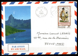 POLYNESIE. N°218 De 1984 Sur Enveloppe Ayant Circulé. Gravure Ancienne. - Briefe U. Dokumente