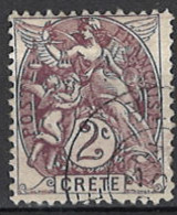 France, Colonies - Crete, Französische Post Auf Kreta, 1902/1903. Mi.Nr. 2, Used O - Oblitérés