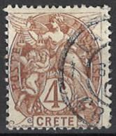 France, Colonies - Crete, Französische Post Auf Kreta, 1902/1903. Mi.Nr. 4, Used O - Oblitérés