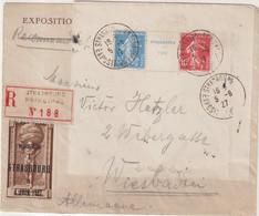 "FRANCE : N° 242 A . REC "" STRABOURG "" . POUR L'ALLEMAGNE . 1927 . - Storia Postale"