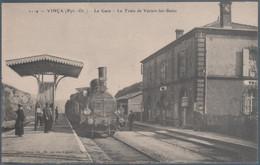 Vinça , La Gare , Le Train De Vernet Les Bains , Animée - Andere Gemeenten