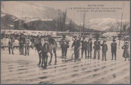 La Roche Des Arnauds , Récolte De Glace , La Charrue , Un Groupe De Piqueurs , Animée - Andere Gemeenten