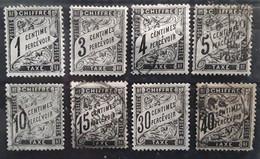 France TAXE Type DUVAL 1881 ,8 Timbres Neufs / O, Yvert No 10, 12, 13 (*),14,15, 16, 18, 19  Bon Etat General Cote 240 E - 1859-1955 Gebraucht