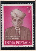 India: 1960   Birth Centenary Of Dr M Visvesvaraya   MH - Unused Stamps