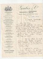 75-Gruber & Cie..Tavernes & Brasseries...Paris 11 ème ..1926 - Alimentos
