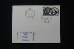 CONGO - Enveloppe FDC En 1960 - Jeux Olympiques - L 90372 - FDC