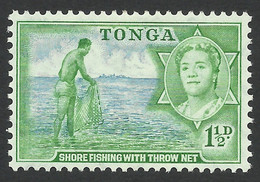 Tonga, 1 1/2 D. 1953, Sc # 101, Mi # 101, MH - Tonga (...-1970)