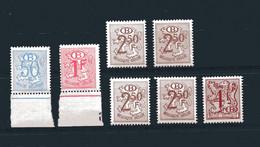 Cijfer Op Heraldieke Leeuw; N.M.B.S. Verschillende; Postfris/neuf - 1951-1975 Lion Héraldique