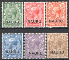 Nauru 1916 Y.T.1/2,4/6,11 */MH VF/F - Nauru