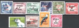 Nauru 1968 Y.T.69/71,73,75/78,81/2 **/MNH VF - Nauru