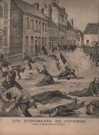 LE PETIT PARISIEN 17 05 1891 - EVENEMENTS DE FOURMIES - GREVE GENERALE EN BELGIQUE MINEURS DU HAINAUT - SOUFFLOT - 1850 - 1899