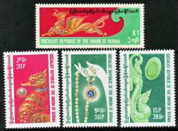 (61) Burma / Birmanie / Myanmar  1979  Gemstones / Edelsteine / Mineraux ** / Mnh  Michel 269-72 - Burma (...-1947)