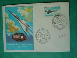 Concorde -- LE BOURGET - Oblitération 6 Juin 1971 - Salon International De L'Aéronautique - Timbre PA 43 Concorde - Aushilfsstempel