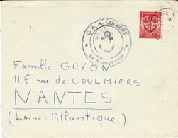 Date Mal Venue - Enveloppe Affr. F M N°12 Grand Cachet Du C.A.A. COLBERT - Seepost