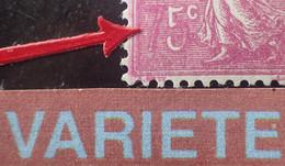 "R1491/116 - 1926 - TYPE SEMEUSE LIGNEE - N°202e NEUF* LUXE - Signé BRUN Expert - SUPERBE +++ VARIETE ➤➤➤ "" 7 "" Coloré - Variétés: 1921-30 Neufs"