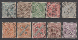 256/ Mi: 227/36 ; Used; 1906; Cat €  30.00 - Wurtemberg