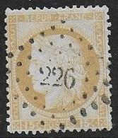 Cérès N° 55  Oblitéré P.C Du G.C.  226 ( Aumale ) - 1871-1875 Ceres