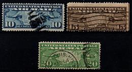 USA 1926, Scott C7-C9, Used, Air Mail, Map - 1a. 1918-1940 Gebraucht
