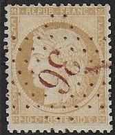 Cérès N° 36  Oblitéré Etoile 36  Rouge - 1870 Besetzung Von Paris