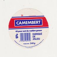 ETIQUETTE DE CAMEMBERT FAB. EN ANJOU 49 R - Quesos