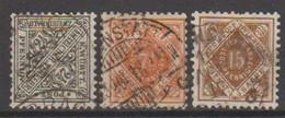 264/ Mi: 237/9 ; Used; 1916; Cat €  8.00 - Wurtemberg