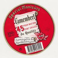 ETIQUETTE DE CAMEMBERT DE MONTSURS 53 - Quesos