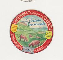ETIQUETTE DE CAMEMBERT LA SUISSE TOURANGELLE REIGNAC 37 - Quesos