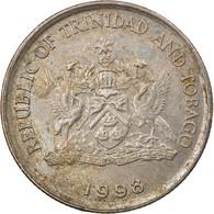 Monnaie, TRINIDAD & TOBAGO, 10 Cents, 1998, Franklin Mint, TB+, Copper-nickel - Trinidad & Tobago