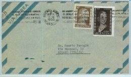 96890 - ARGENTINA - POSTAL HISTORY - Airmail COVER To ITALY  ---  1953  Evita - Briefe U. Dokumente