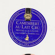 ETIQUETTE DE CAMEMBERT GAULT ET MILLAU - Quesos