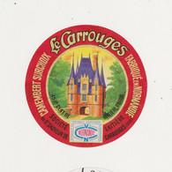 ETIQUETTE DE CAMEMBERT DE ST SAUVEUR DE CARROUGES 61 - Quesos