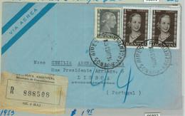 96891 - ARGENTINA - POSTAL HISTORY - REGISTERED COVER To PORTUGAL  1953  Evita - Briefe U. Dokumente