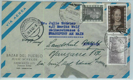 96892 - ARGENTINA - POSTAL HISTORY - Airmail COVER To GERMANY  ---  1953  Evita - Briefe U. Dokumente