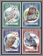 DJIBOUTI 2020 MNH Owls Eulen Hiboux 4v - OFFICIAL ISSUE - DHQ2110 - Owls
