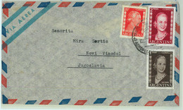 96893 - ARGENTINA - POSTAL HISTORY - Airmail COVER To YUGOSLAVIA -  1953  Evita - Briefe U. Dokumente