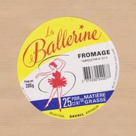 ETIQUETTE DE FROMAGE BALLERINE 37 P - Quesos