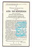 DP Alida Van Wonterghem ° Lotenhulle Aalter 1876 † Gent X Arthur Van Dierdonck - Santini