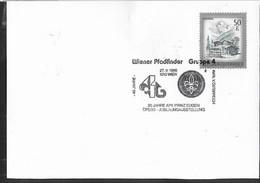 """AUSTRIA - SCOUTISMO -  ANNULLO SPECIALE """" WIENER PFADFINDER GRUPPE 4 - 27.9.1986"""" - 1981-90 Cartas"""