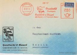 39577. Frontal FRIESENHEIM (Baden) Alemania Federal 1953. NOTOPFER BERLIN Stamp. Tabac, Tabak - Lettres & Documents