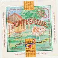 ETIQUETTE DE PONT L EVEQUE FAB. POUR HENNART 62 - Quesos