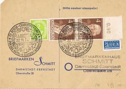 39579. Tarjeta BERLIN - Charlotten (Alemania Federal Y Berlin) 1952. NOTOPFER BERLIN Stamp. - Lettres & Documents