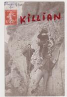 Carte Photo Du Lauzet En 1910 Homme Avec Aigle Royal (voir Texte Du Verso)rare - Other Municipalities