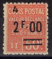 COLIS POSTAUX N° 63 Neuf* Avec Charnière Légère. Bas Prix à Saisir. - Neufs