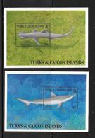TURKS ET CAICOS 1993 REQUINS YVERT N°B131-133A NEUF MNH** - Vissen
