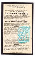 DP Couple - Laurent Frère & Marie Cath. Hossay † Retinne Fléron 1931 - Imágenes Religiosas