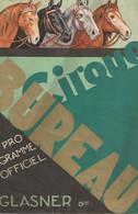 Programme Officiel Pour La Saison 1932 Du Cirque BUREAU - 2 Scan - Bon état. - Programs